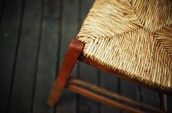 Part of Reed Chair Stock Image