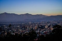One part of Kathmandu valley From altitude royalty free stock photos