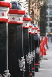 One part of London. THe more pillar on the London street royalty free stock photography