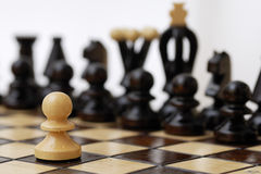 One Pawn Against Whole Opponent. Stock Image
