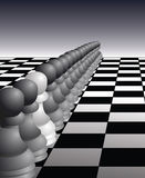 One Pawn stands out Stock Images