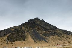 The majestic Eyjafjoll Mountain in Iceland stock image