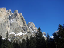 One of the peaks of the Sella massif Royalty Free Stock Images