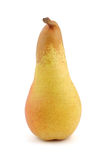 One pear. Vertical shot of a pear isolated on white Stock Images