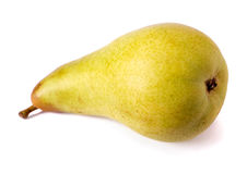 One  pear. On white background Royalty Free Stock Photo
