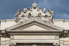 One of the pediments of the Great Theater - Vienna - Austria Royalty Free Stock Image