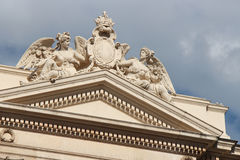 One of the pediments of the Great Theater - Vienna - Austria Royalty Free Stock Photos