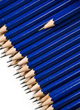 One pencil standing out royalty free stock image