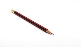 One Pencil on  white Stock Photo
