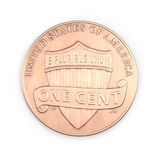 One Penny coin isolated over white. 3D illustration, clipping path Stock Image