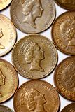 One penny coins from United Kingdom Royalty Free Stock Photo