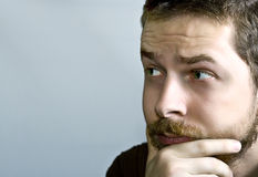 One pensive young man Royalty Free Stock Photography