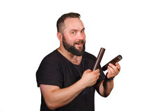 One percussion player Royalty Free Stock Photo