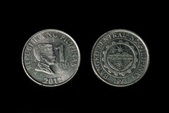 One Peso coin Stock Photography