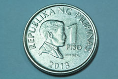One Philippine Peso Coin Stock Image