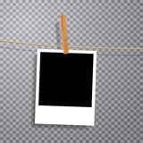 One photo on rope Royalty Free Stock Images