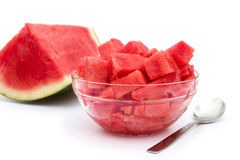 One piece and a bowl of watermelon Royalty Free Stock Photo