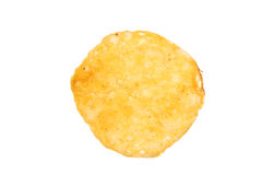 The one piece of chips isolated Stock Photos
