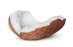 One piece of coconut pulp Stock Photo