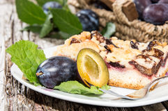 One Piece of Plum Cake stock photo