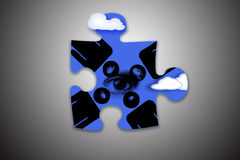 One piece of puzzle Stock Photo