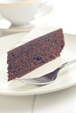 One piece of sacher cake Royalty Free Stock Image