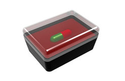 One pill in a box Royalty Free Stock Photos