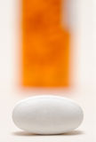 One pill close-up Stock Photography