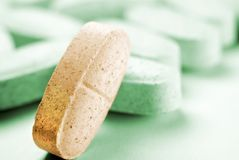 One pill stand out royalty free stock photo