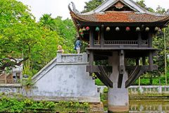One Pillar Pagoda, Hanoi Vietnam royalty free stock photos