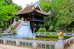 One Pillar Pagoda, Hanoi Vietnam. One Pillar Pagoda is a historic Buddhist temple in Hanoi, the capital of Vietnam. The temple was built by Emperor Lý Thái stock images