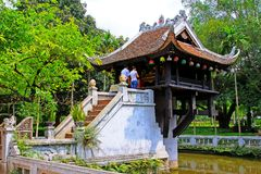 One Pillar Pagoda, Hanoi Vietnam royalty free stock image