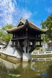 One Pillar pagoda in Hanoi, ViOne Pillaretnam. One of beauty-spots in Hanoi, the One-Pillar Pagoda is a popular tourist attraction. One Pillar pagoda in Hanoi royalty free stock image