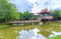 The One Pillar Pagoda in Long An, Vietnam Royalty Free Stock Photos