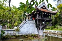 One pillar pagoda in Vietnam stock photos