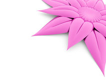 One pink flower rendered on white Stock Photo