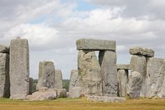Ancient Stonehenge and Medieval Salisbury. This is one of the planet`s oldest world heritage Sites, Stonehenge which has been a place of pilgrimage for many royalty free stock image