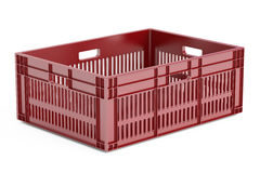 One plastic crate, 3D rendering Royalty Free Stock Photos
