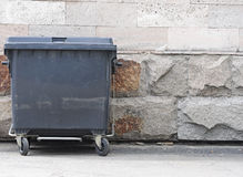 One plastic garbage can Royalty Free Stock Images