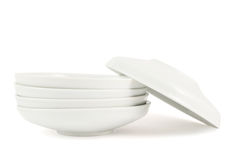 One plate dish over another stack Royalty Free Stock Image
