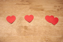 One plus one equals two hearts Royalty Free Stock Images
