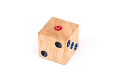 One point wood dice Royalty Free Stock Images