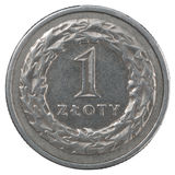 One Polish Zloty coin Stock Photography