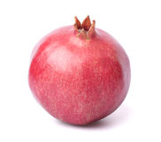One pomegranate in closeup. One ripe pomegranate in closeup royalty free stock image