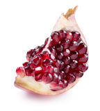 One pomegranate quarter piece isolated on white background Stock Photography