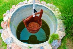 One pond for one bucket stock image