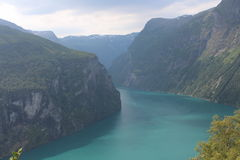 On one of the popular Fjord in Norway. Stock Photography