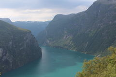On one of the popular Fjord in Norway. Royalty Free Stock Images