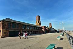 Getaway new york city jacob riis park beach queens. One of the popular getaway destination in New York city is Jacob Riis Park ,Rockaway Beach in Far Rockaway royalty free stock images