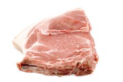 One pork chop Stock Images